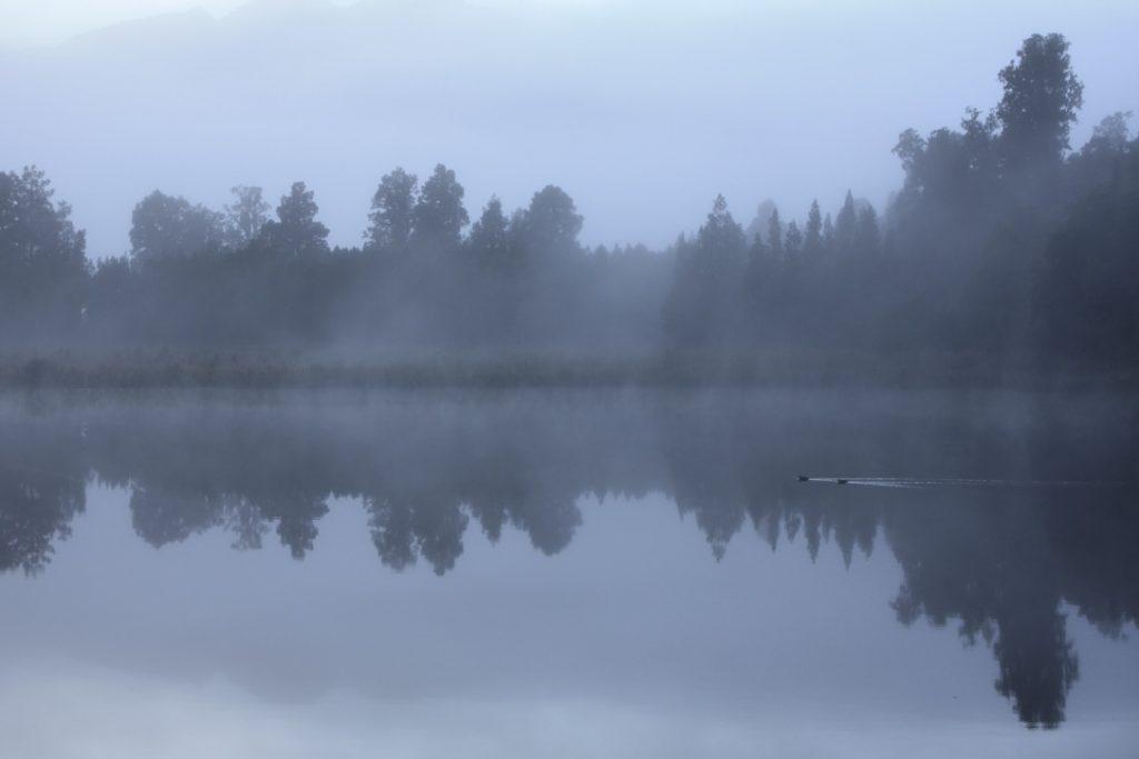 Lake Matheson vor Sonnenaufgang...